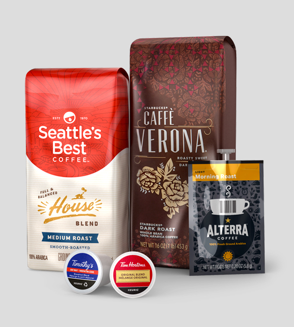 Starbucks, Green Mountain Coffee, Mars Drinks, Peet's Coffee & Tea products supplier